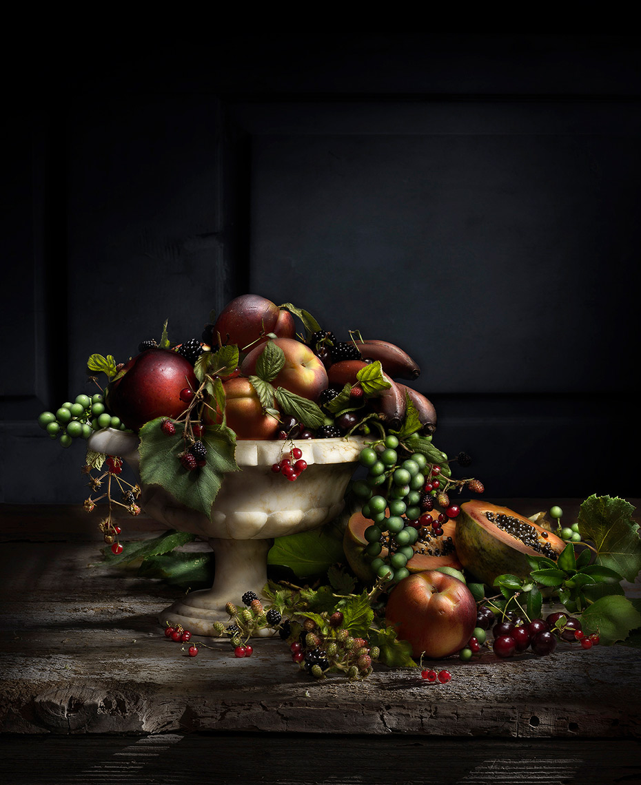 Fruit painting with light by Boston