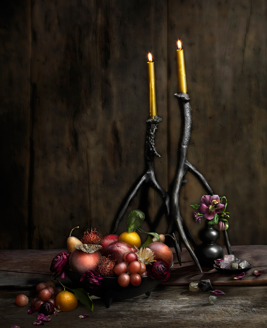 Fruit & Antlers painting with light by Boston