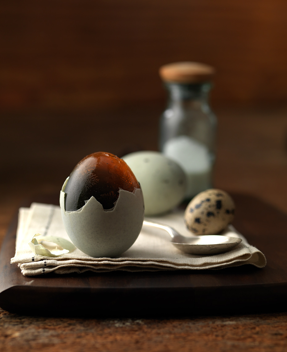 Duck egg photographed by Boston food & drink photographer Scott Goodwin