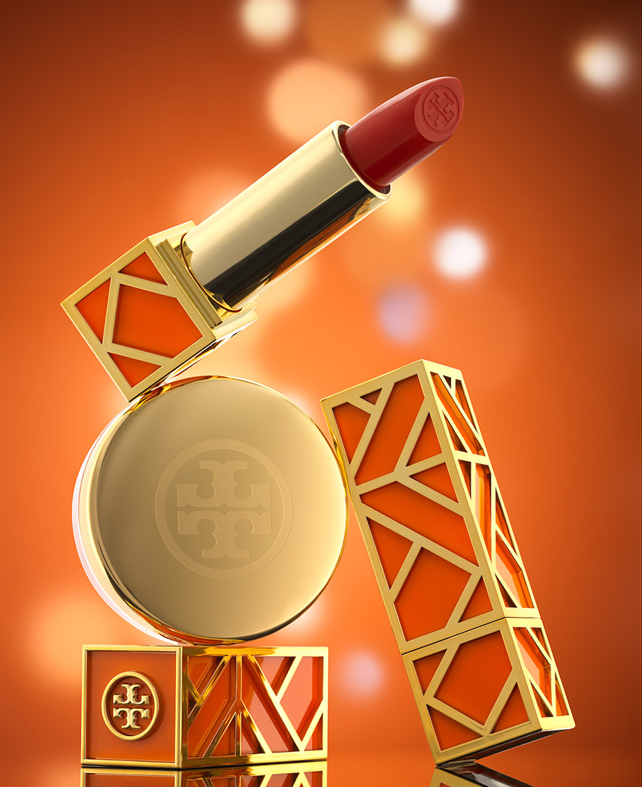 Tory Burch Lipstick photograph by Boston product photographer Scott Goodwin